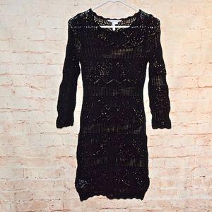 BCBGeneration Crochet Knit Dress.